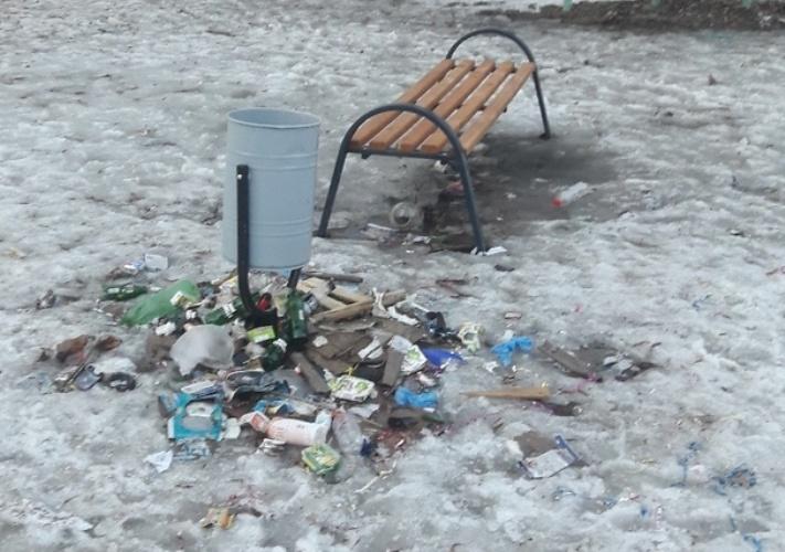 Жители Брянска возмущаются помойкой на детской площадке