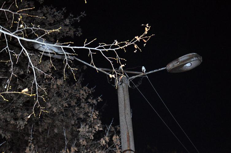 Ночью улицы Новозыбкова освещает только луна