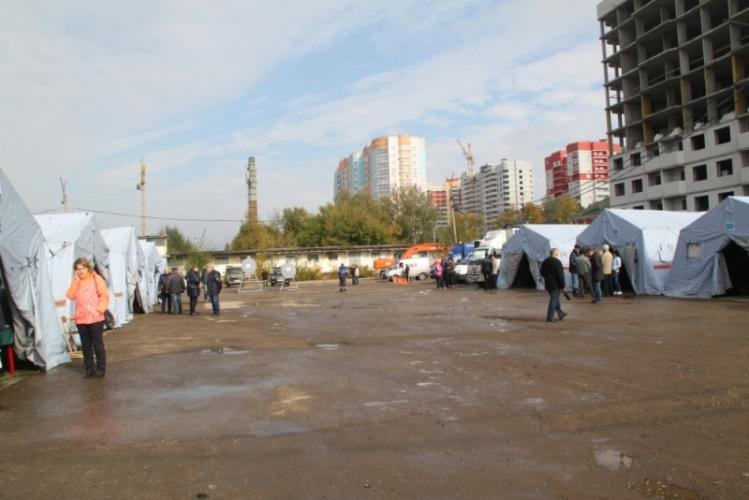 В Брянске развернули палаточный городок