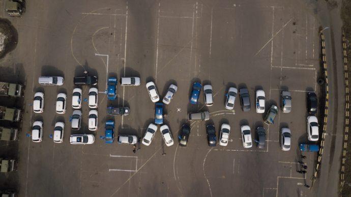 Брянские водители поучаствовали во флешмобе в честь Дня космонавтики