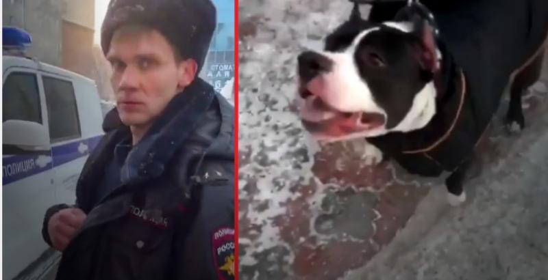 Пьяный полицейский избил инвалида из-за собаки без намордника