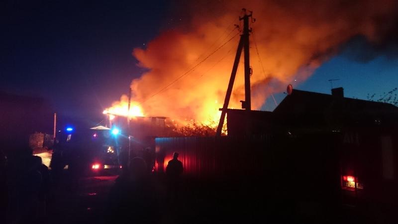 Утром в Брянском районе сгорел жилой дом