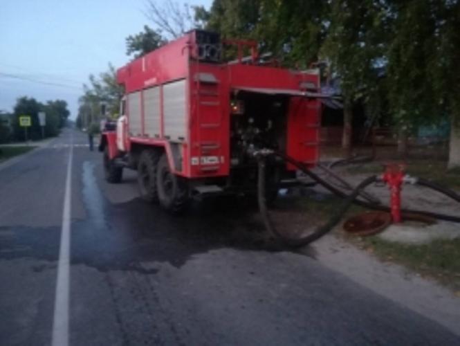 Ночью в Навле загорелась школа