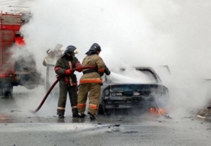 В Клинцах загорелся грузовик