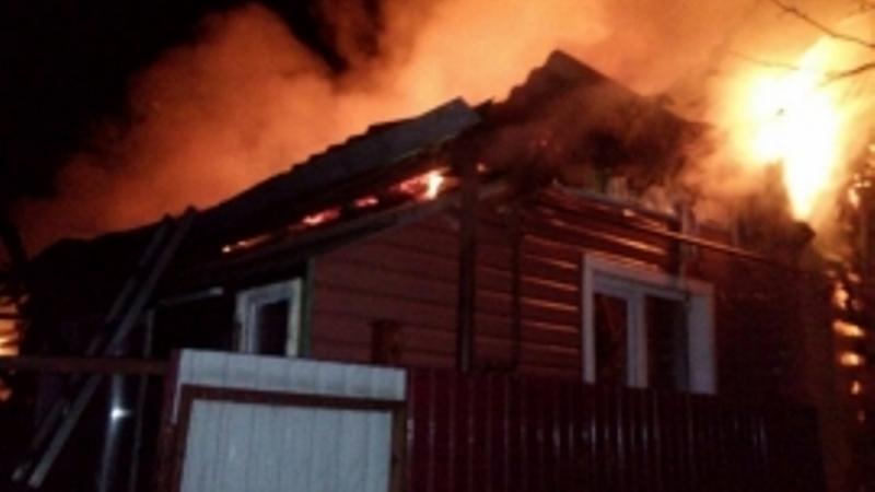В Почепском районе сгорел дачный дом