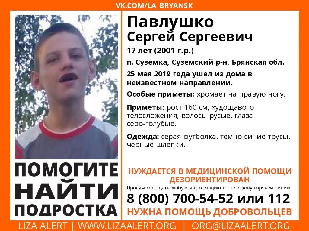 В Брянске пропал 17-летний мальчик