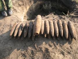 Под Брянском нашли 15 боеприпасов времен войны