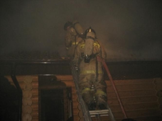 Сегодня ночью в Стародубе сгорел сарай