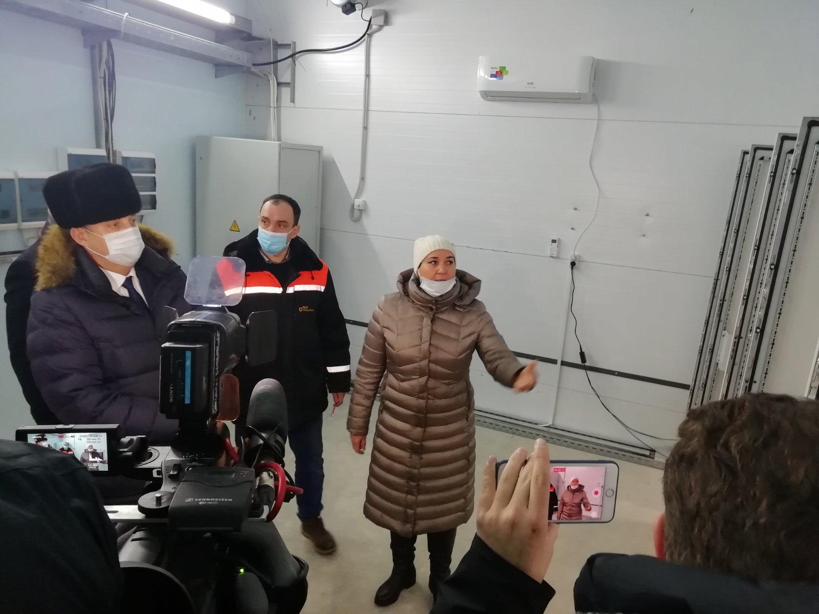 Александр Богомаз проверил строительство очистных сооружений в Стародубе