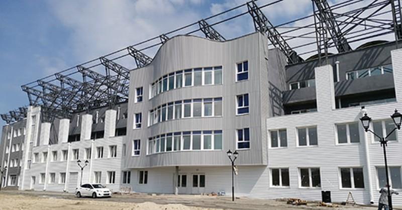 Завершается строительство брянского стадиона «Десна»