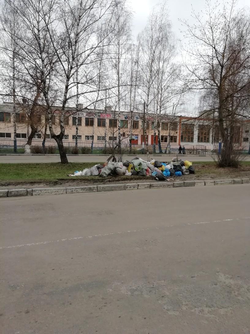 В Брянске возле школы №11 появилась свалка