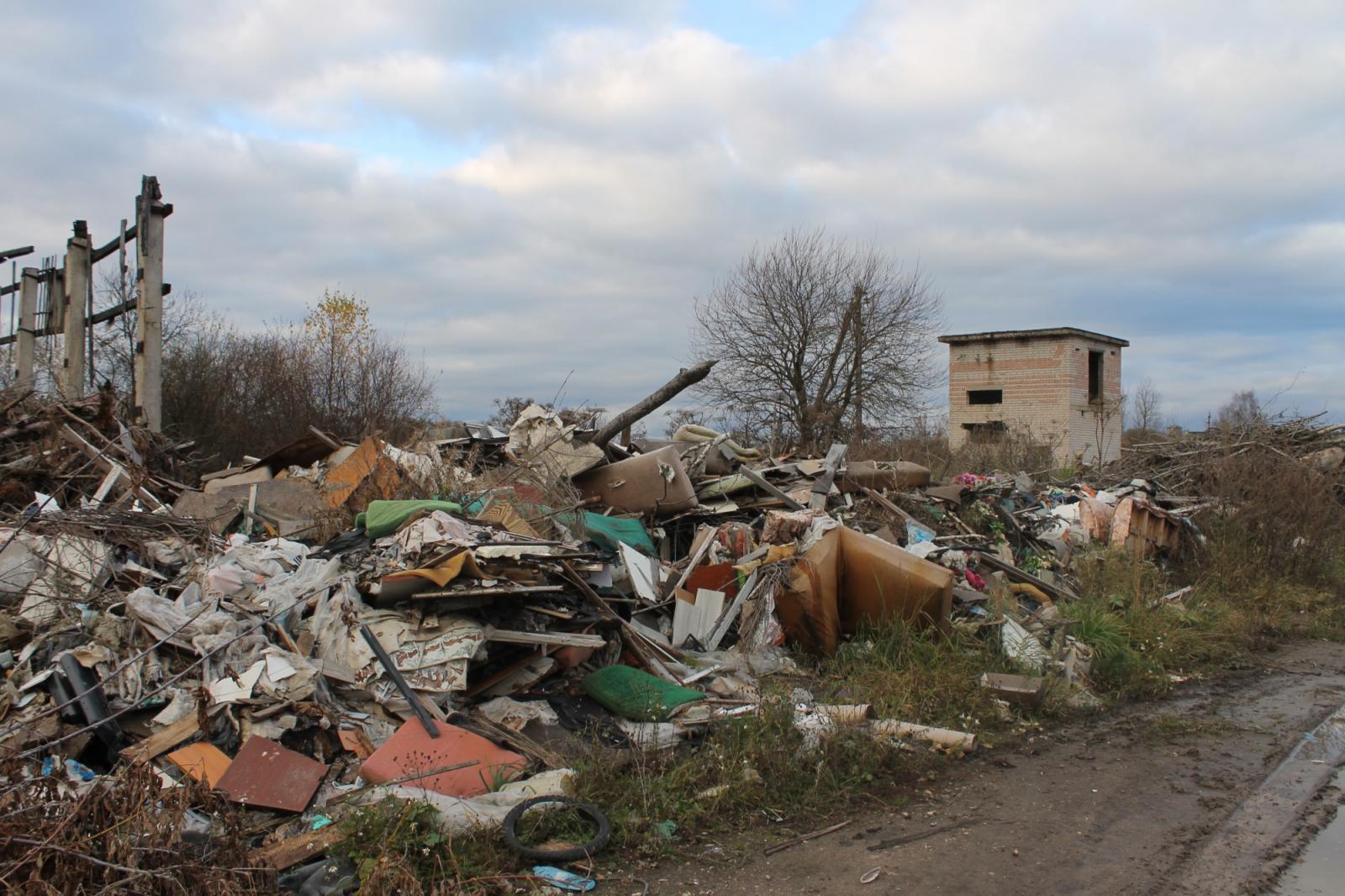 В Погарском районе жители села возле школы организовали свалку