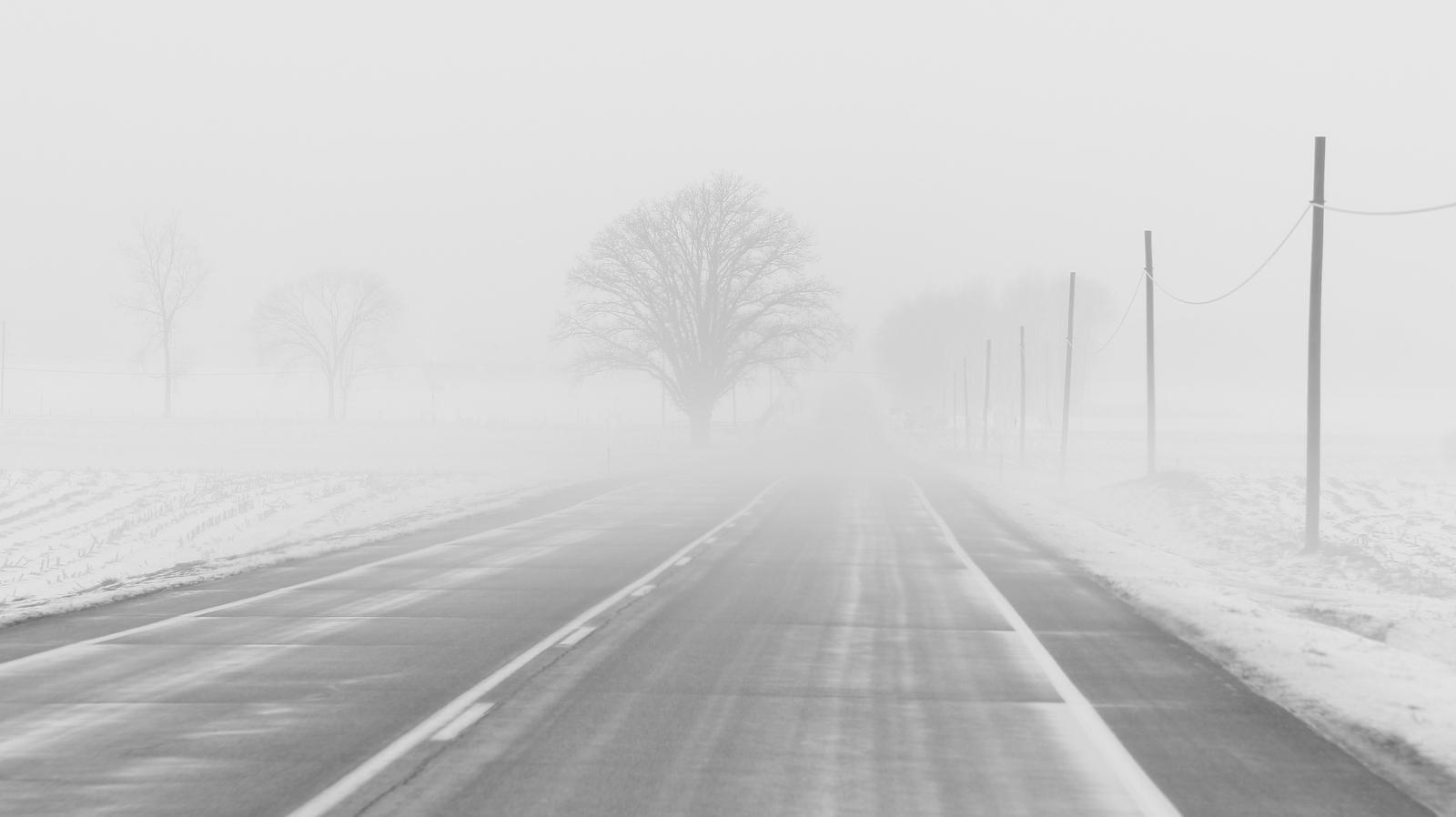 Брянских водителей предупредили о тумане и гололеде 28 января