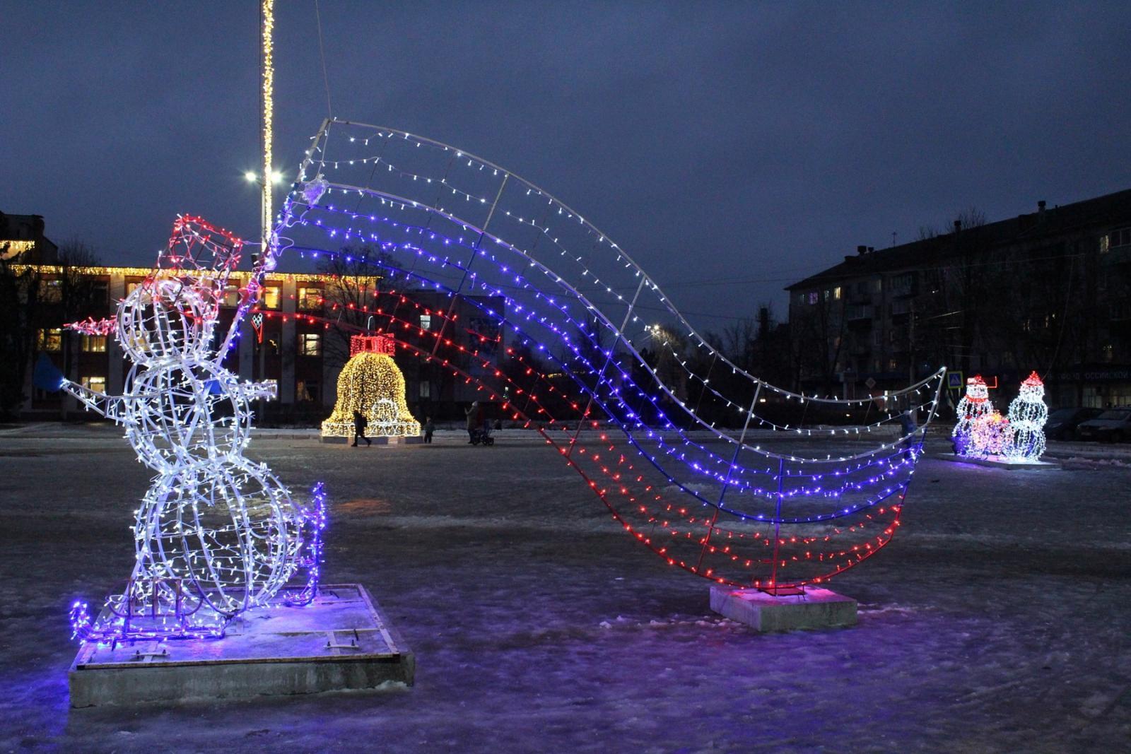 Брянцам показали новогоднюю красоту в Унече