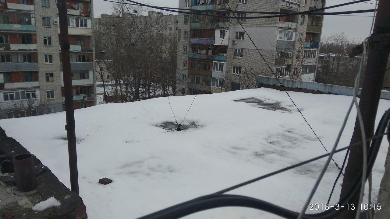 Чистка снега крыш