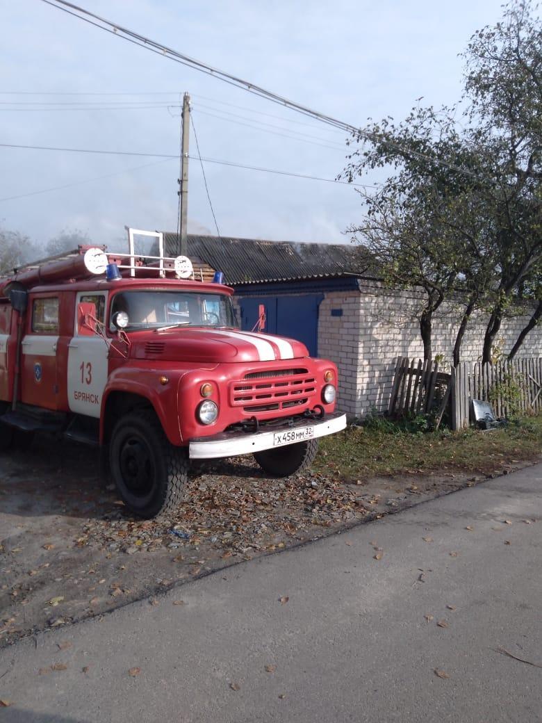 В Глинищево сгорел дом