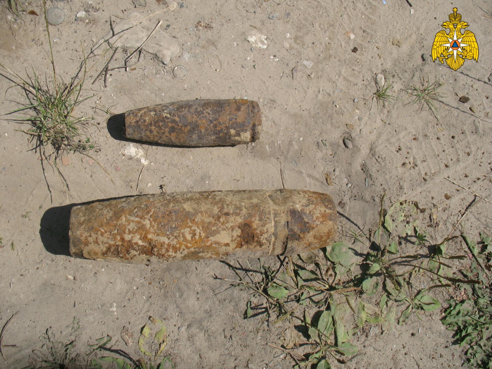 Под Брянском нашли авиабомбу и артиллерийский снаряд