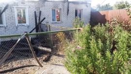 В Брасовском районе сгорел двухквартирный дом