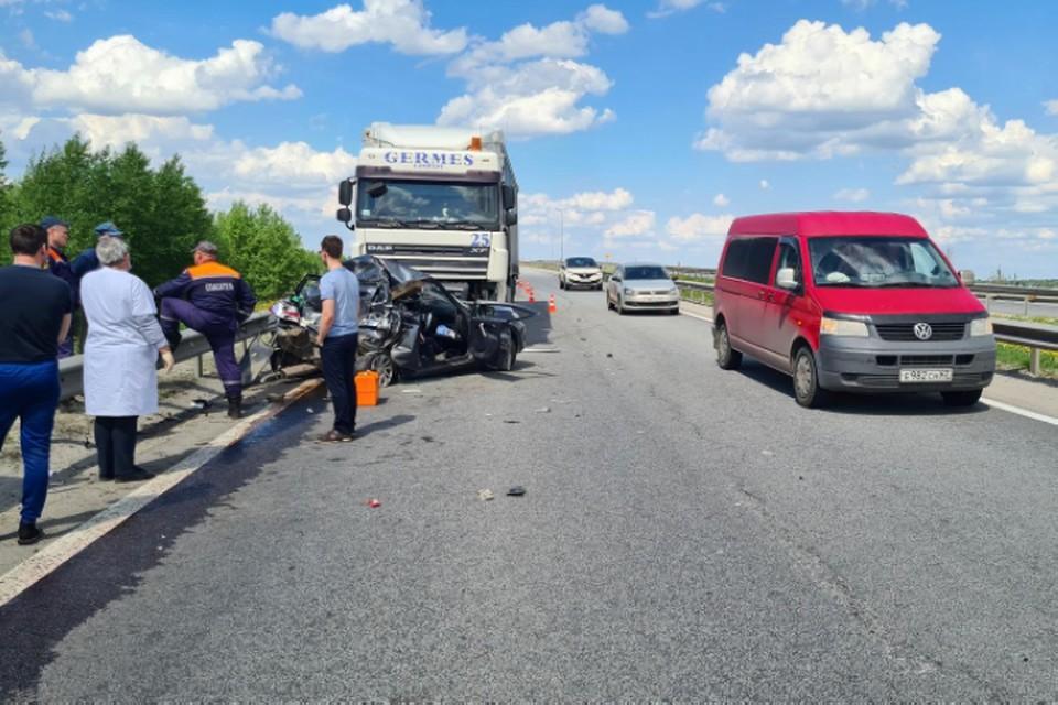 В Брянском районе на объездной трассе произошло серьезное ДТП