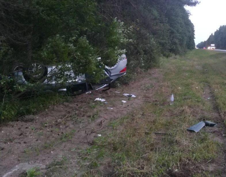 Под Брянском опрокинулась иномарка: ранены две женщины
