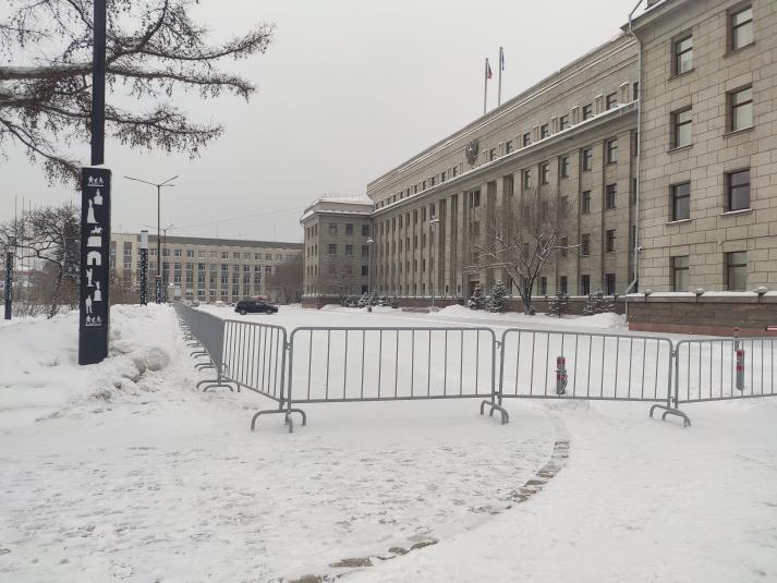 Защитились ограждениями брянские чиновники накануне 31 января