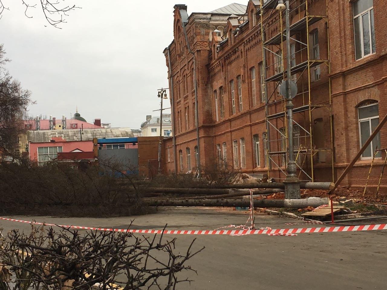 В центре Брянска на бульваре Гагарина реконструируют памятник архитектуры конца XIX века