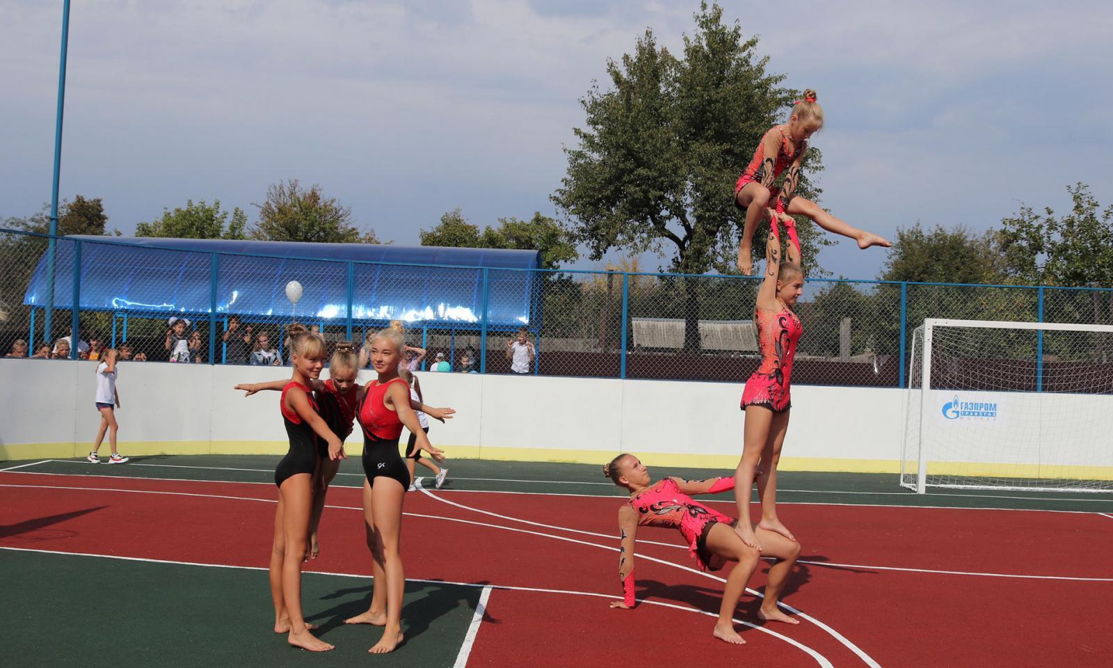В Клинцах открыли многофункциональную спортивную площадку