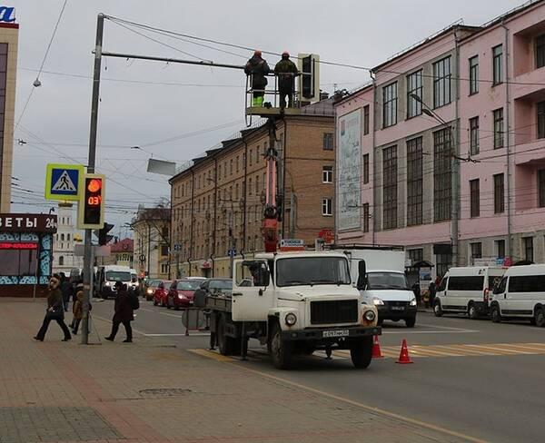 Светофор на площади Ленина в Брянске модернизировали