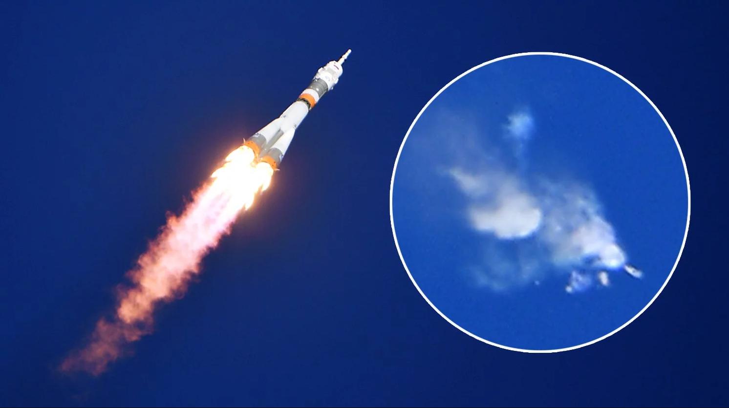 В интернет попал момент взрыва на ракете-носителе «Союз-ФГ»