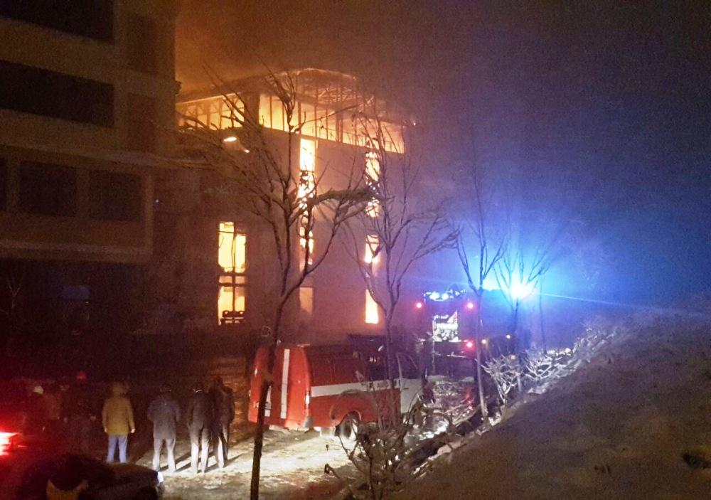 Ваквапарке Петербурга произошел пожар