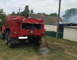 В Жуковке накануне сгорел жилой дом