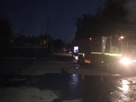 В Брянске случился пожар на улице Фрунзе