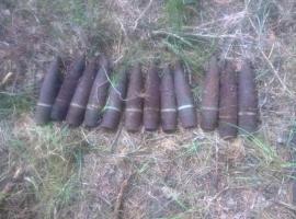 В Бежице сегодня нашли 9 артиллерийских снарядов времен войны