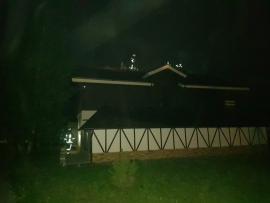 В Брянском районе горел частный дом