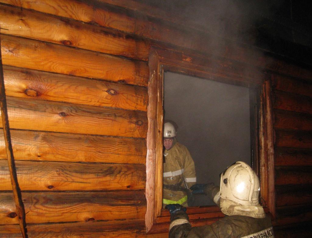 В селе Новоселки Брянского района утром тушили баню