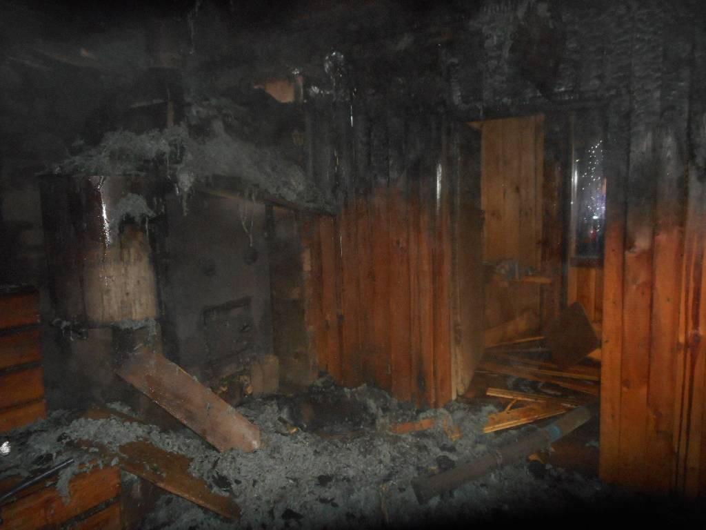 В Клинцах в субботу тушили баню