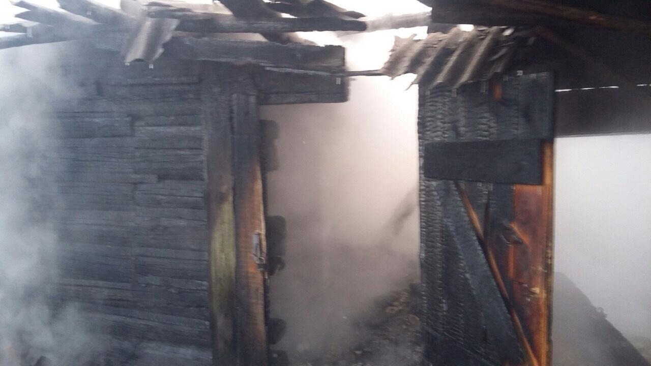 В Новозыбкове сгорела баня