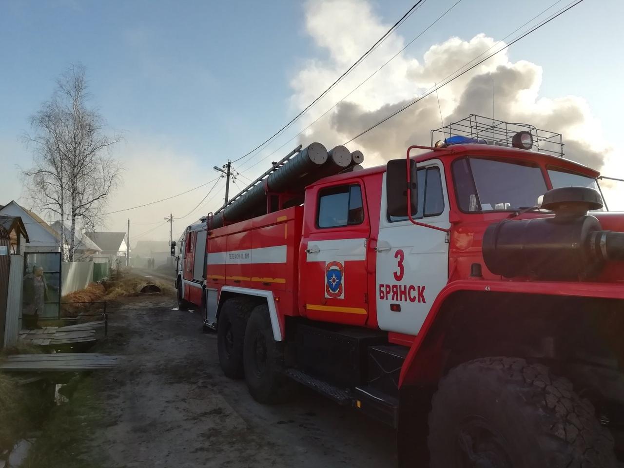 В Фокинском районе сгорел дом
