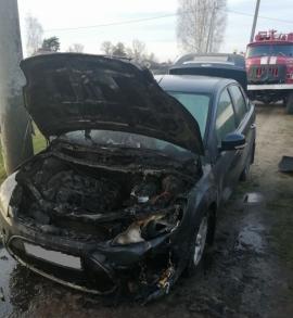 В Ивоте на улице микрорайон за 10 минут выгорела машина