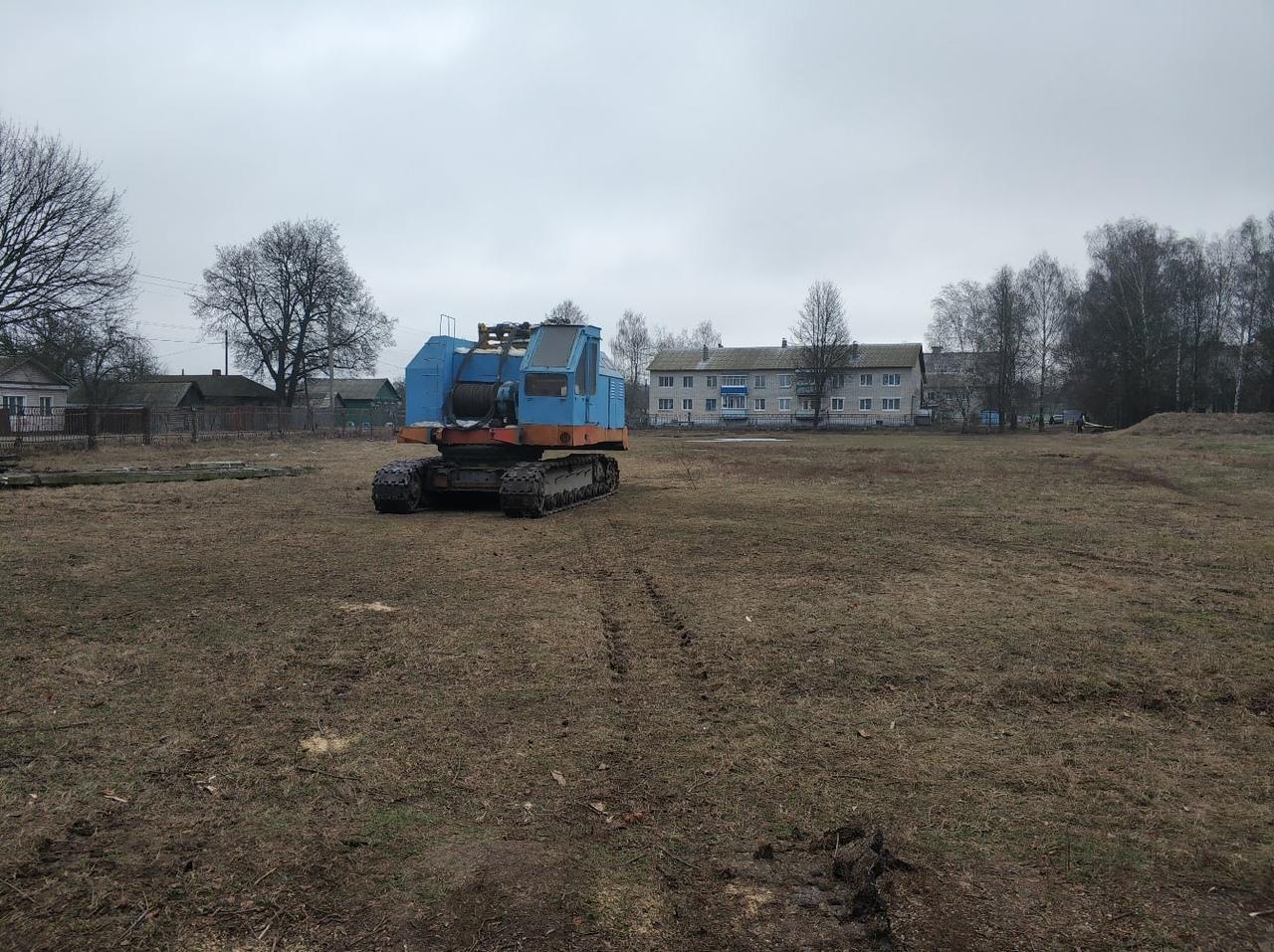 Началось строительство ледового дворца в Стародубе
