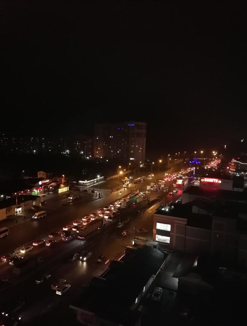 Огромная пробка сковала Брянск в результате ДТП