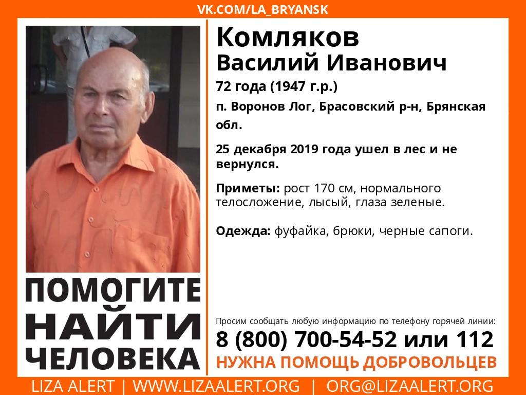 В Брянской области пропал пенсионер