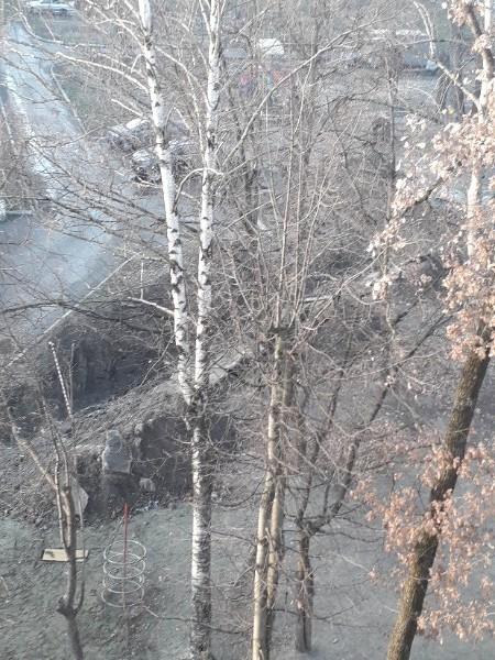 В Брянске разрыли целый ров