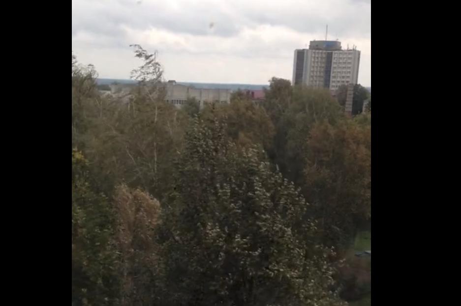 В сети появляются первые последствия разгула стихии в Брянске