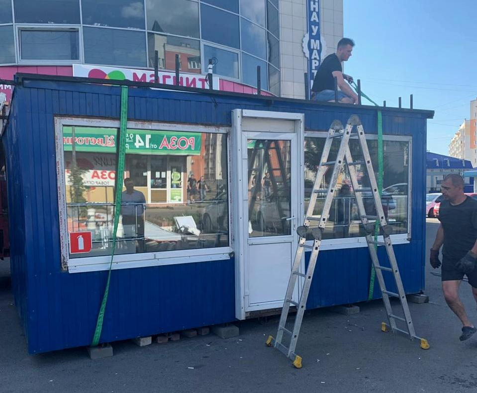 27 киосков демонтировали с улиц Брянска за неделю