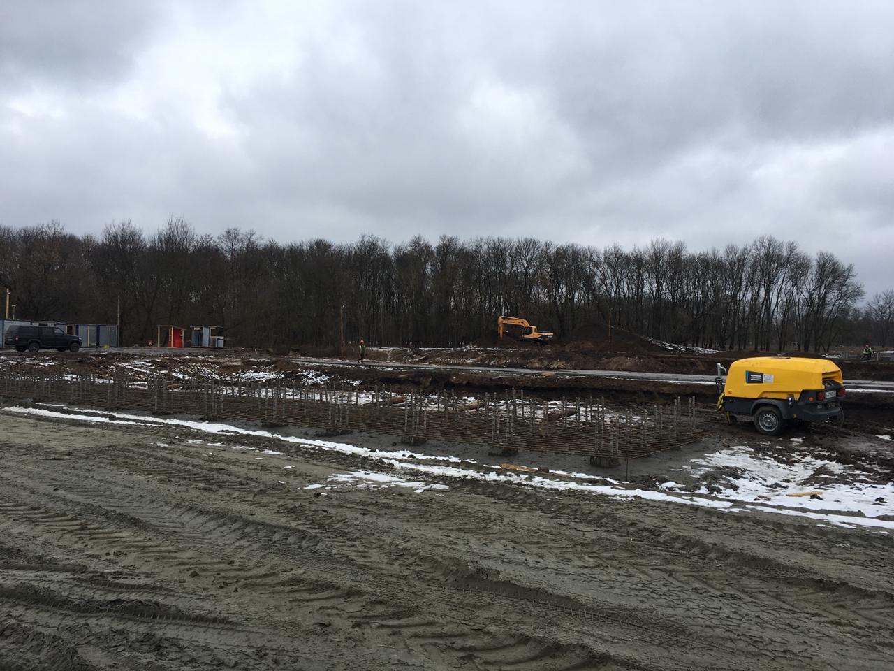 В Брянске продолжается строительство дороги из Фокинского в Володарский район