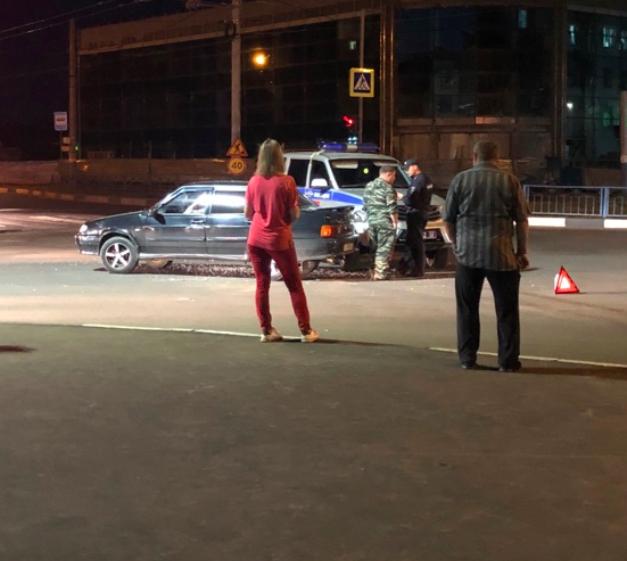 В Брянске произошло ДТП с полицейской машиной