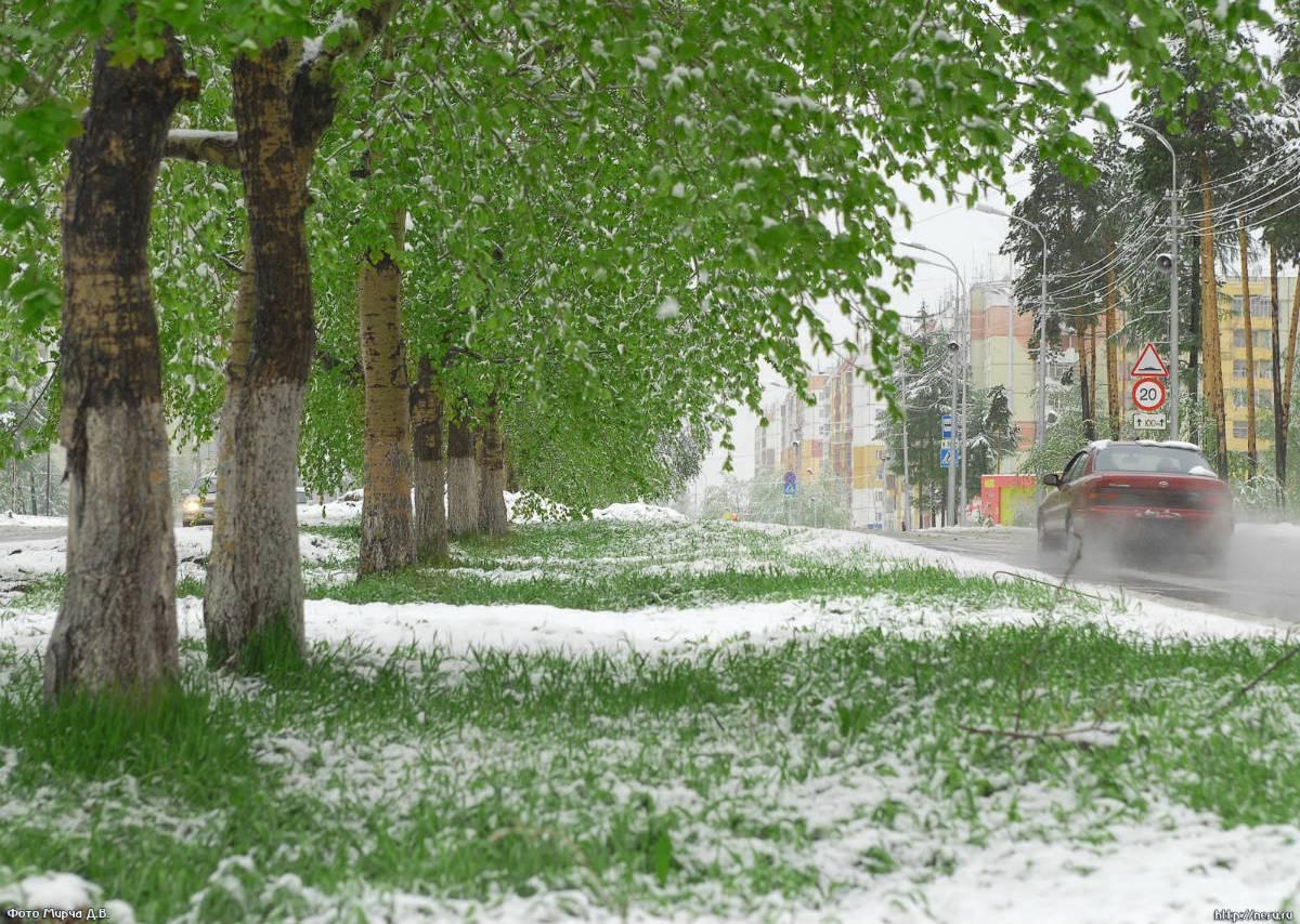 Где 1 июня выпал снег