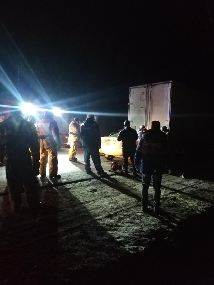 Под Брянском легковушка влетела в грузовик
