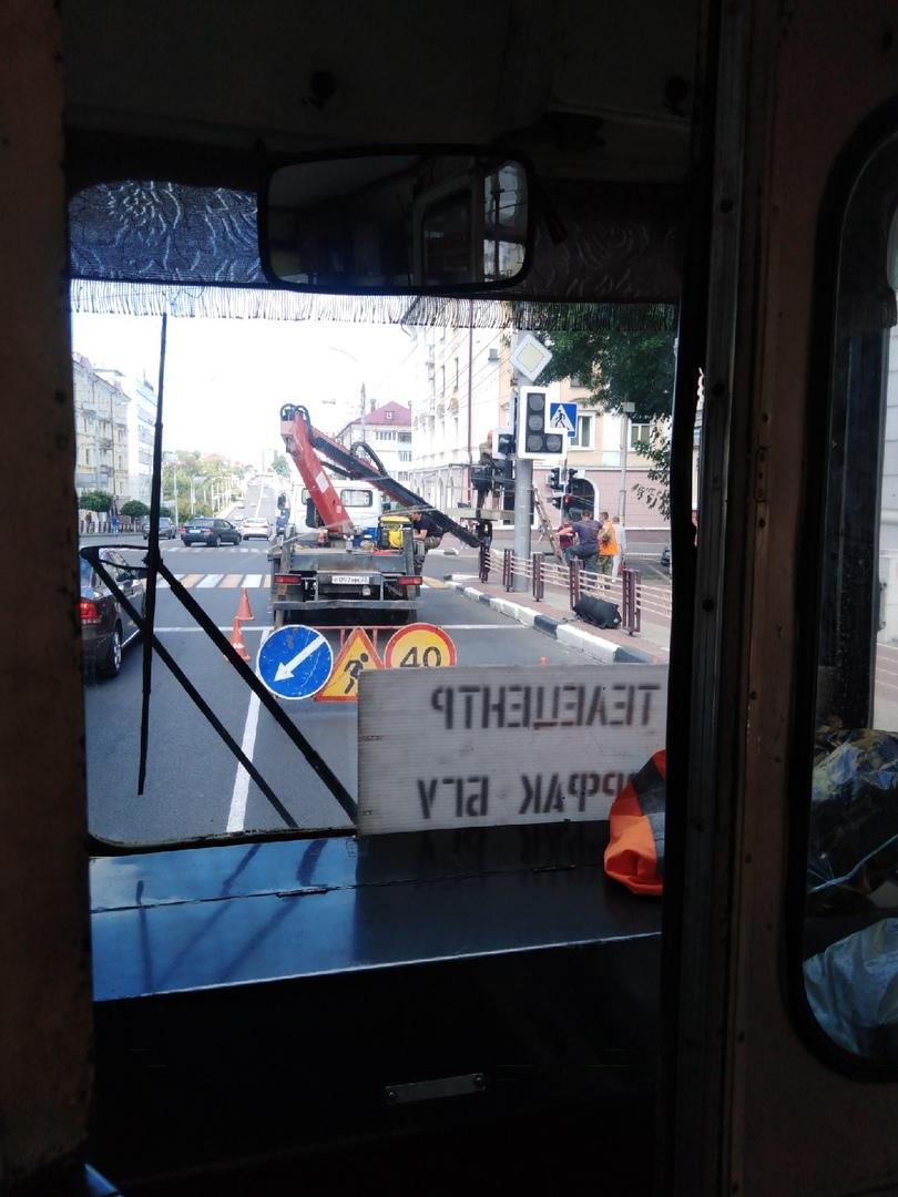 На проспекте Ленина в Брянске заменили светофор